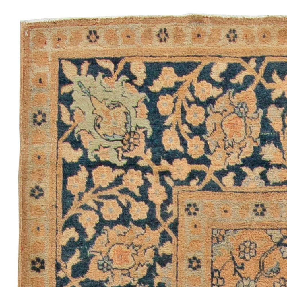Antique Persian Tabriz Handwoven Wool Rug BB5519