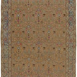 Terracotta Antique Persian Tabriz Rug BB5528
