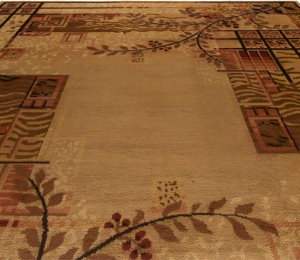 Vintage French Art Deco Rug BB5427