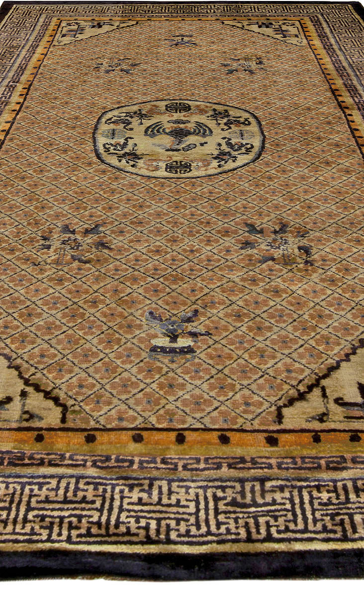 Vintage Chinese Silk Rug Bb5240 By Doris Leslie Blau