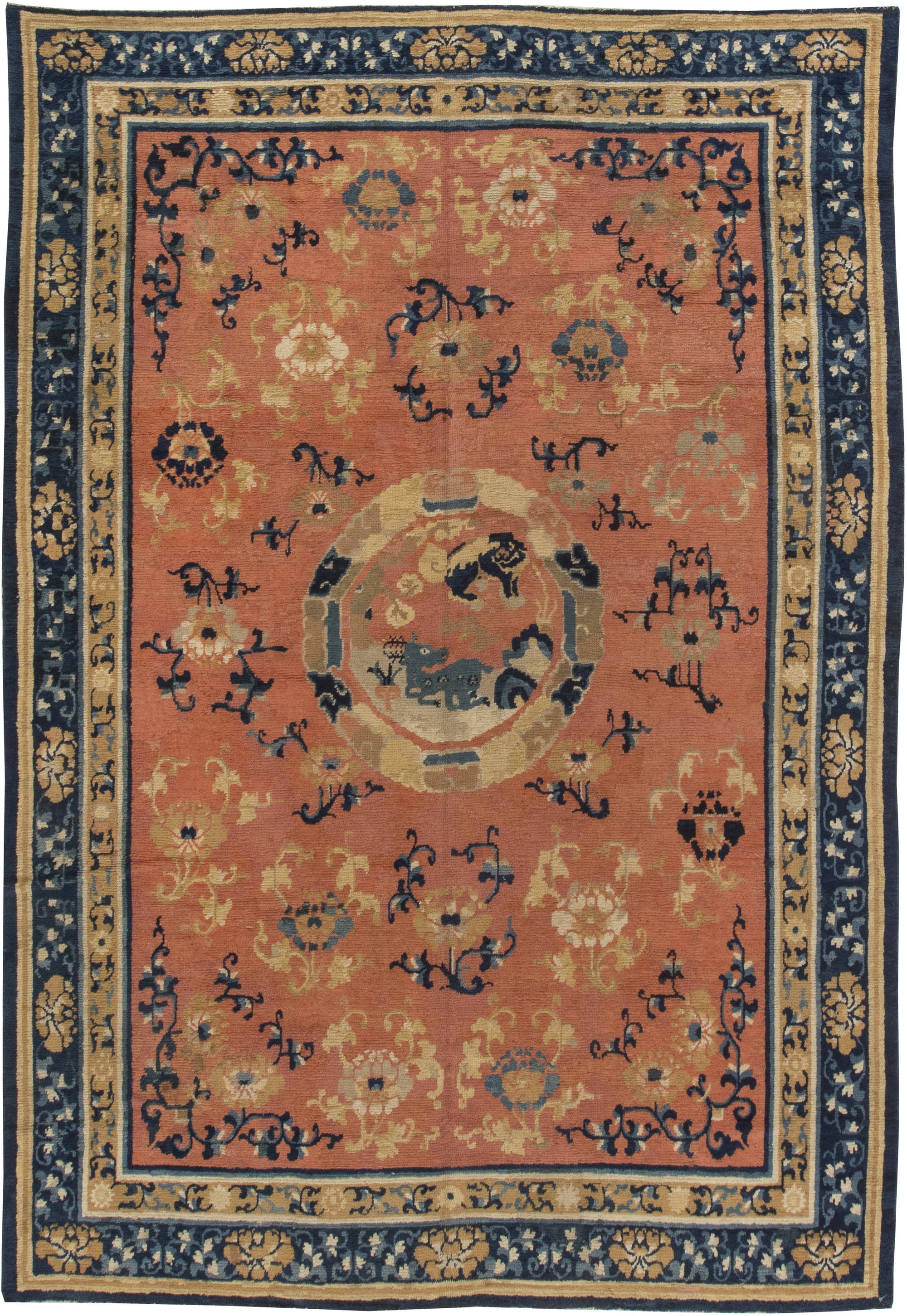19th Century Chinese Brown And Cobalt