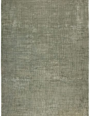 Greek Key Contemporary Geometric Beige & Gray & Silk Carpet N11798