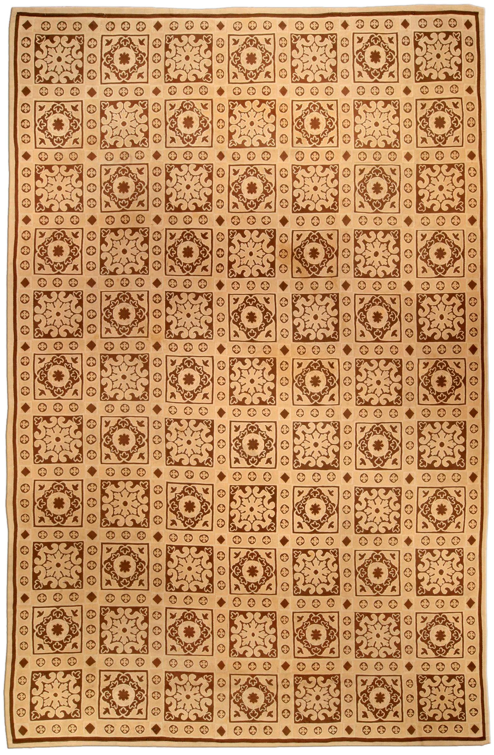 Antique Aubusson Carpet BB4184