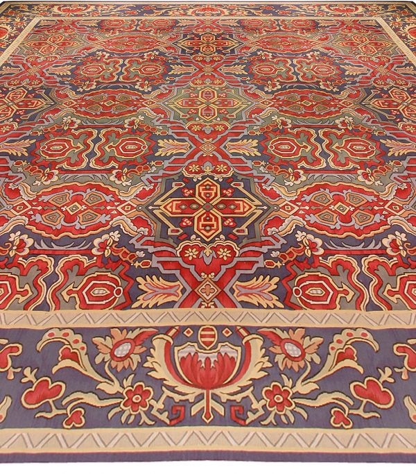 Oversized Antique French Aubusson Carpet BB0181