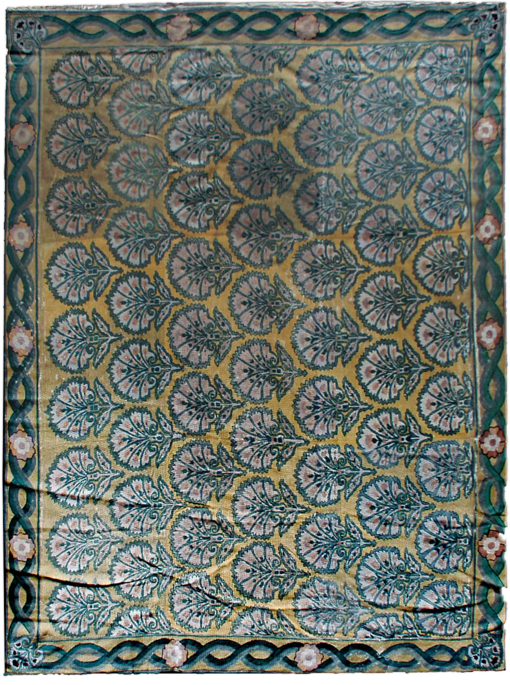 Antique needlepoint Carpet BB0638