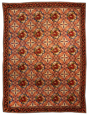 Antique Portuguese Needlepoint Carpet BB7296