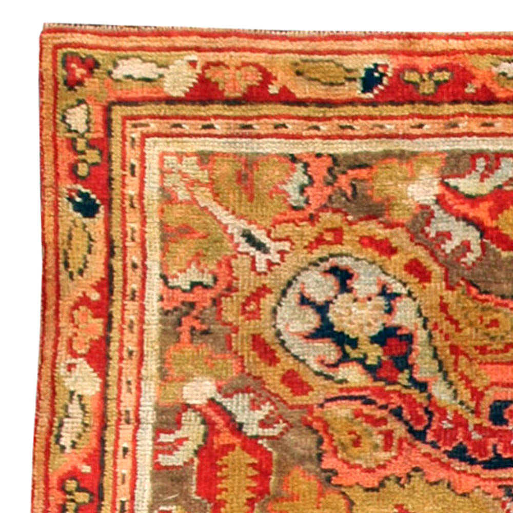 Antique English Axminster Carpet Bb0749 By Dlb