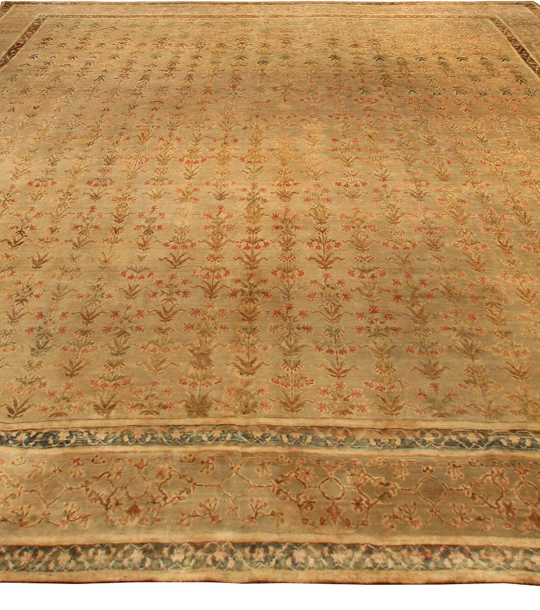 Arts And Crafts Rugs With Exciting Indian Agra Rug Design: Antique Indian Agra Carpet BB3012 By Doris Leslie Blau