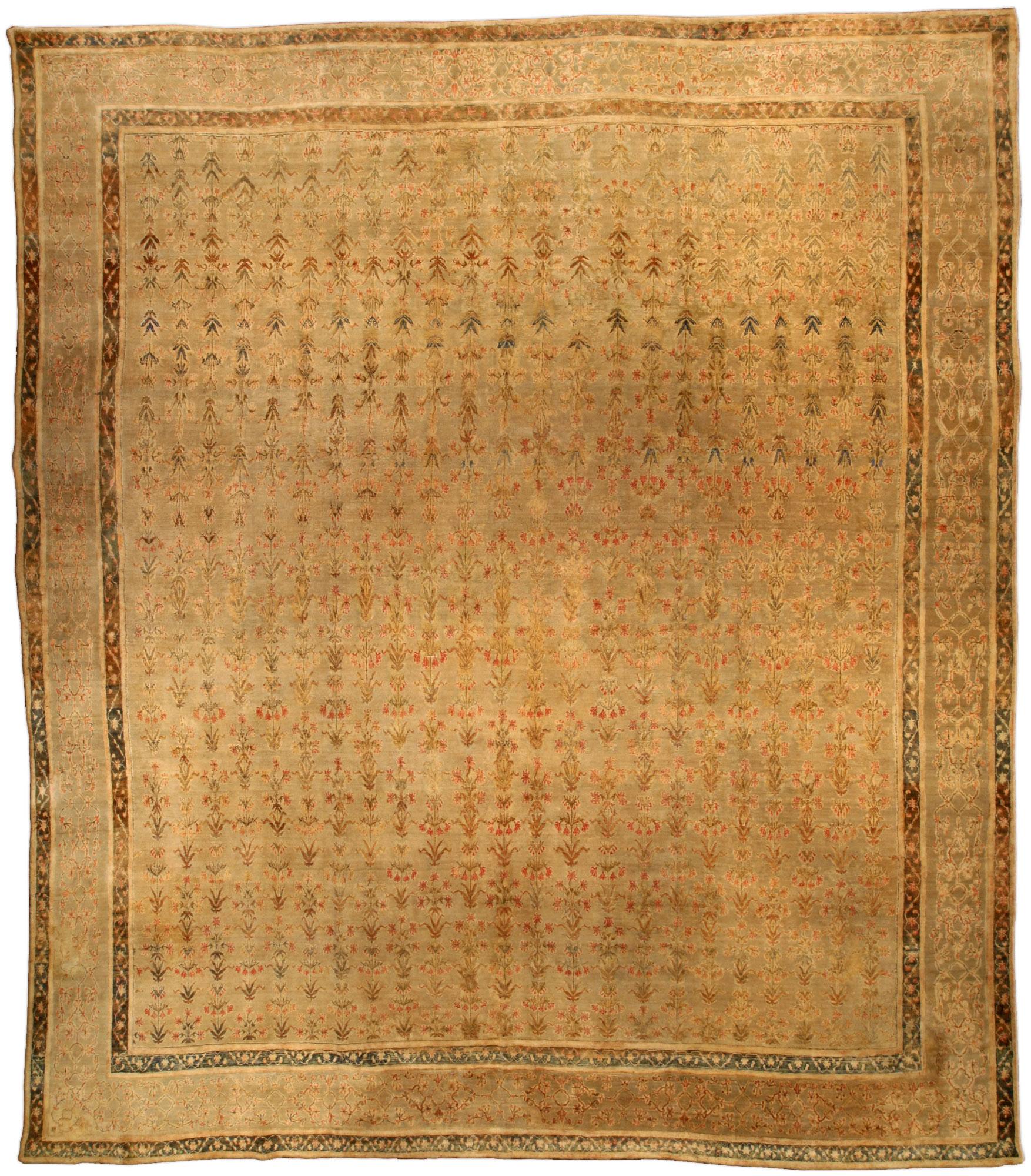 Antique Indian Agra Carpet BB3012
