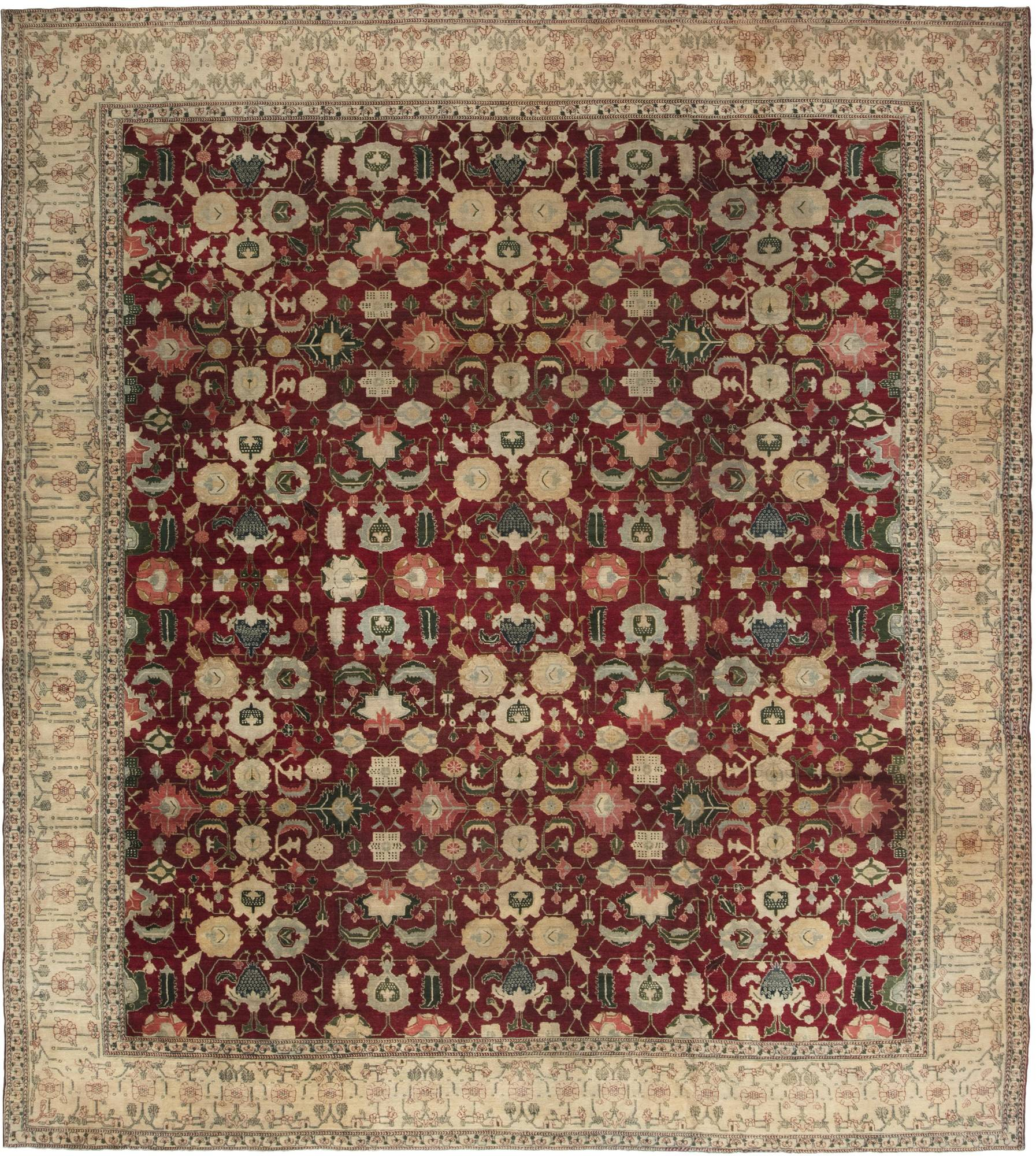 Arts And Crafts Rugs With Exciting Indian Agra Rug Design: Antique Indian Agra Rug BB4353 By Doris Leslie Blau