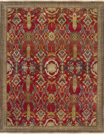 19th Century Indian Agra Handwoven Wool Rug BB6807