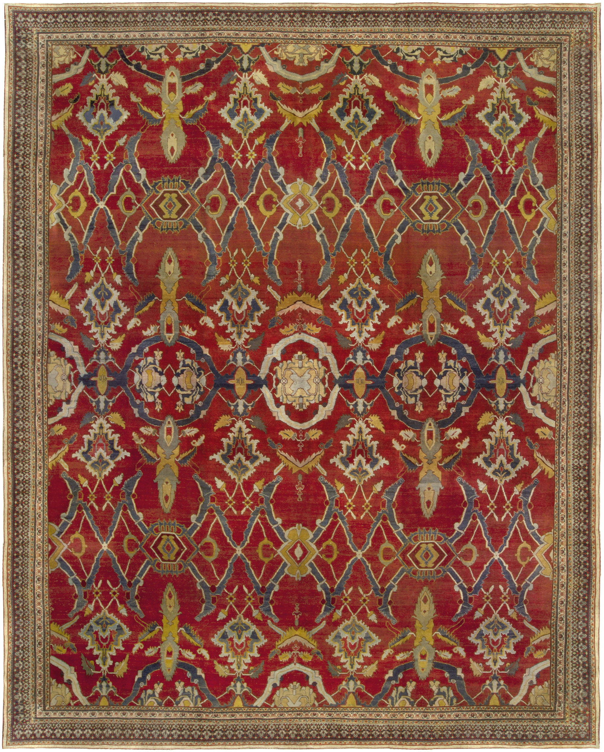 Chinese Rug Dealers: Antique Indian Agra Rug BB5109 By Doris Leslie Blau