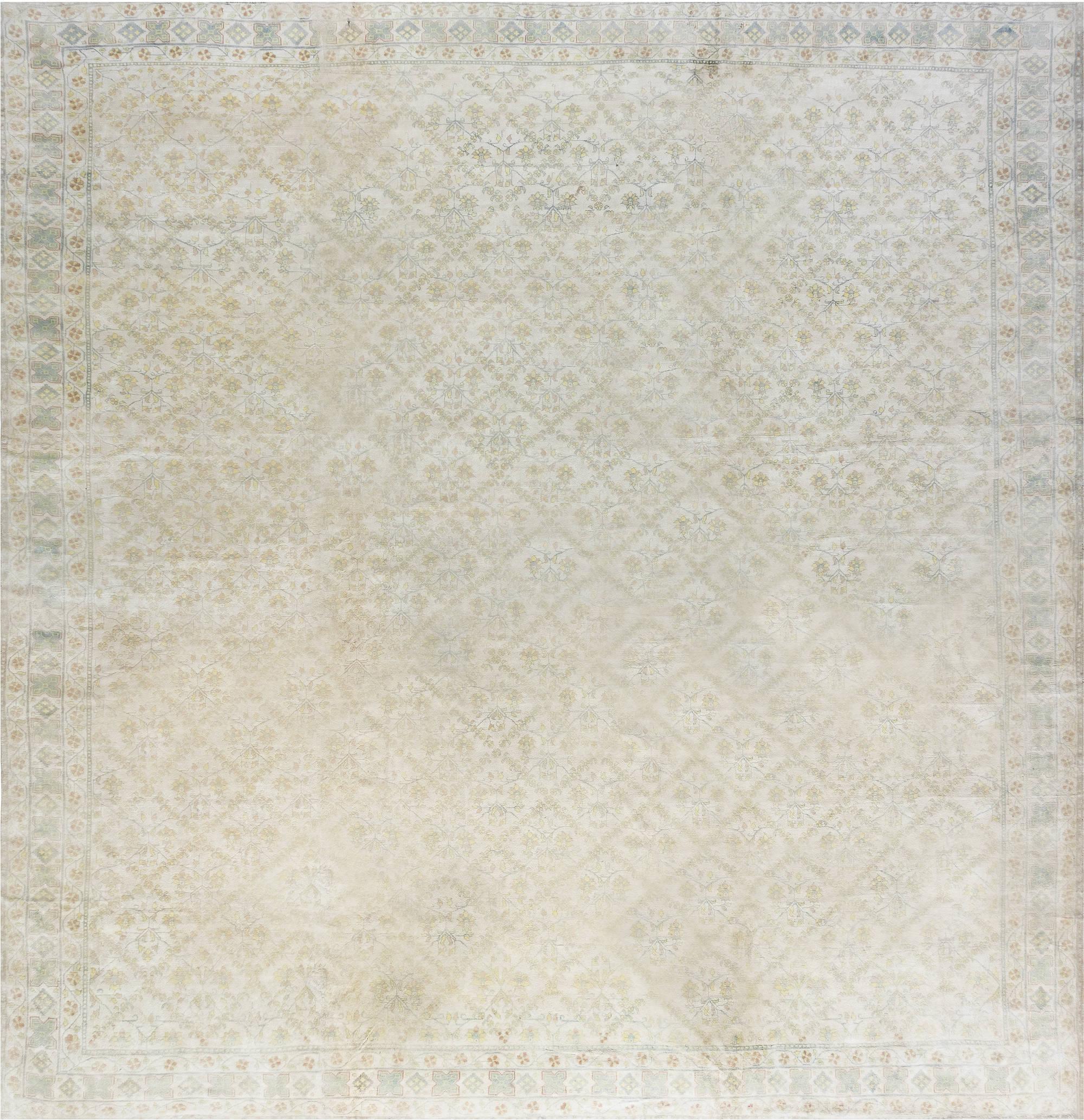 Vintage Indian Cotton Agra Rug BB1344