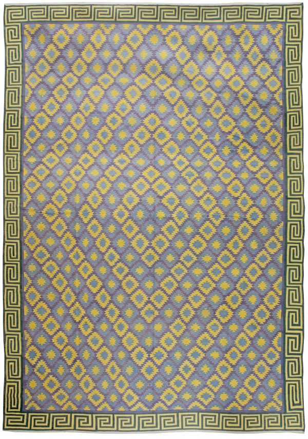 Oversized indiano do vintage dhurrie Rug BB6196