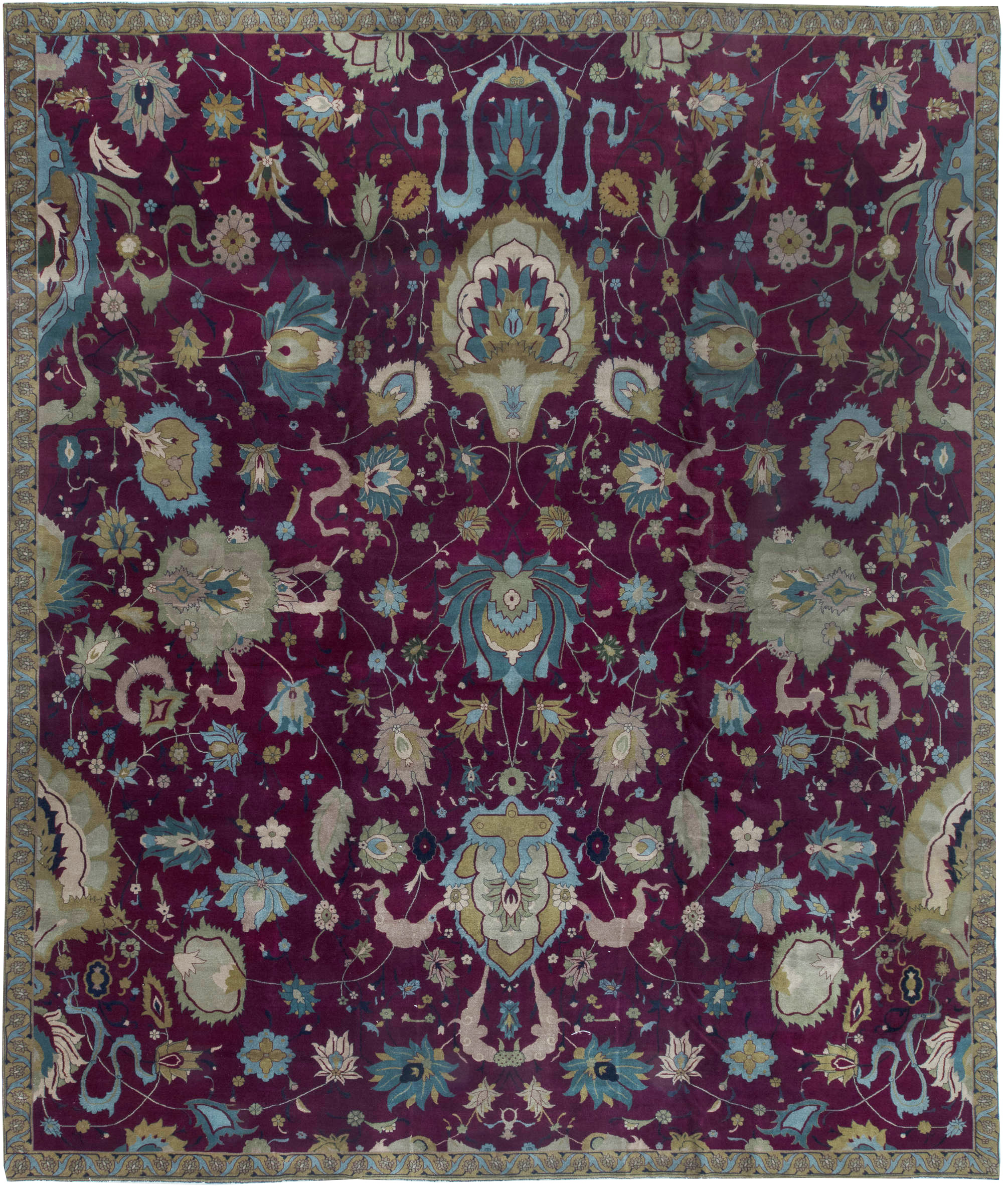 Antique Indian Rug Bb6409 By Dlb