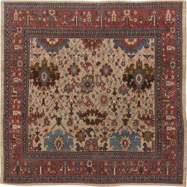 Persian Bakshaish Red, Blue, Brown & Beige Wool Rug (Size Adjusted) BB1107