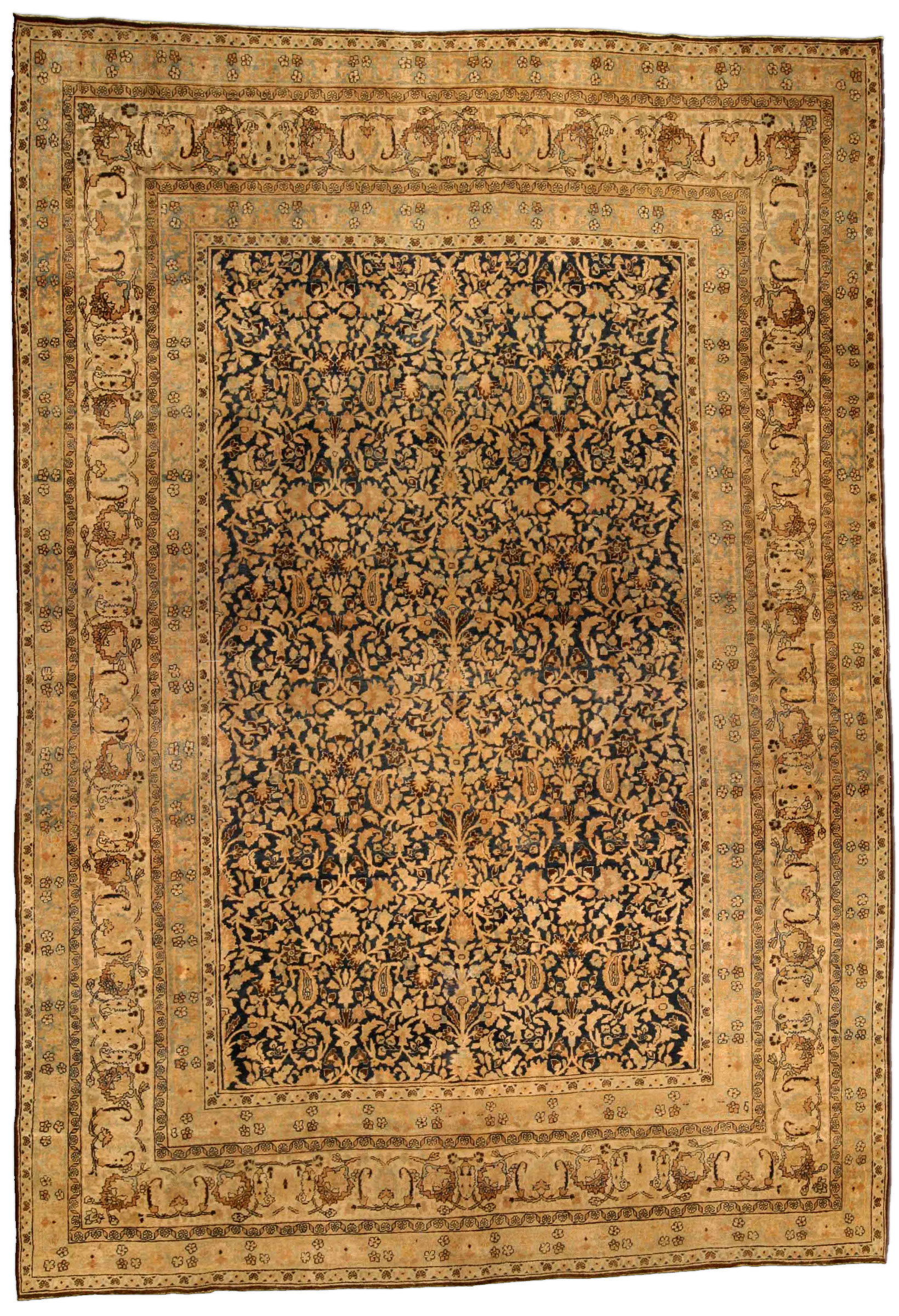 Antique Persian Kashan Carpet Bb4306 By Dlb