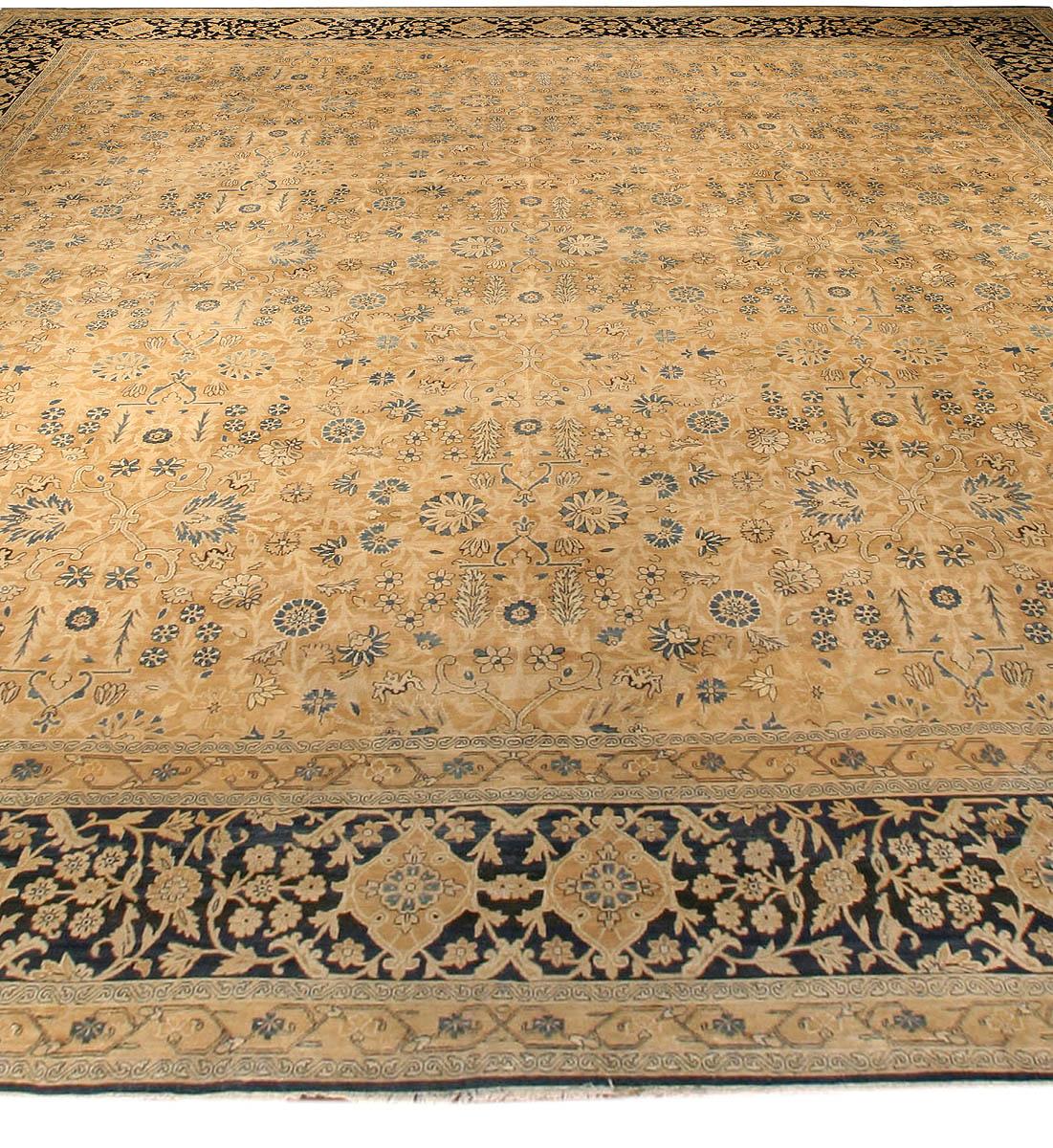 Oversized Antique Kirman Camel Carpet BB3867