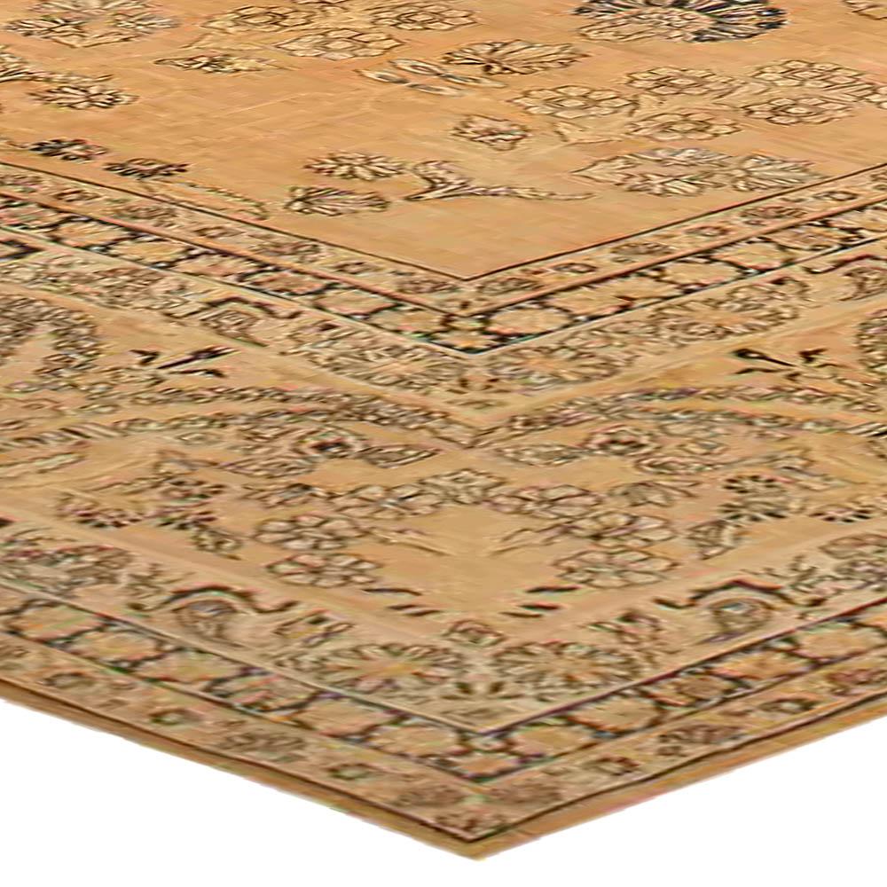 Vintage Persian Kirman Camel Handwoven Wool Rug BB4100