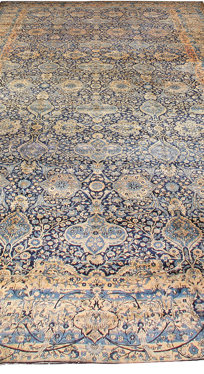 Antique Persian Kirman Rug ( size adjusted) BB0631