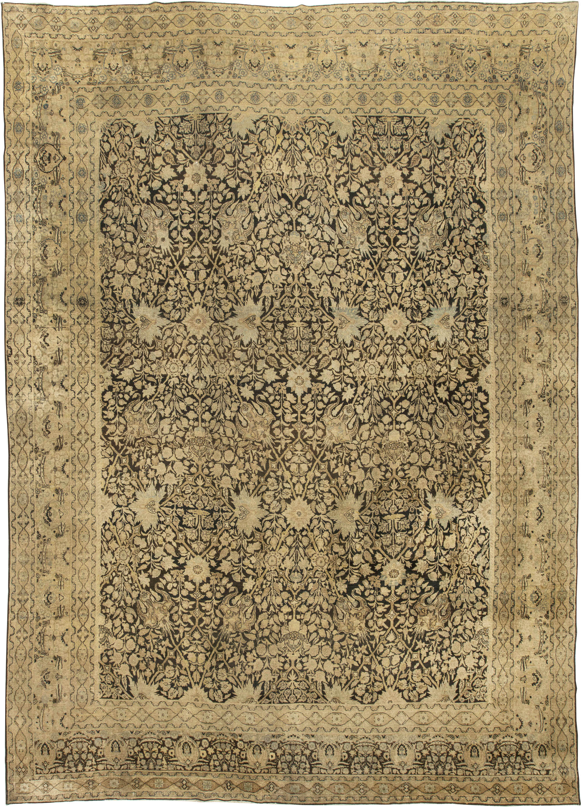 Antique Persian Tabriz Rug BB4355
