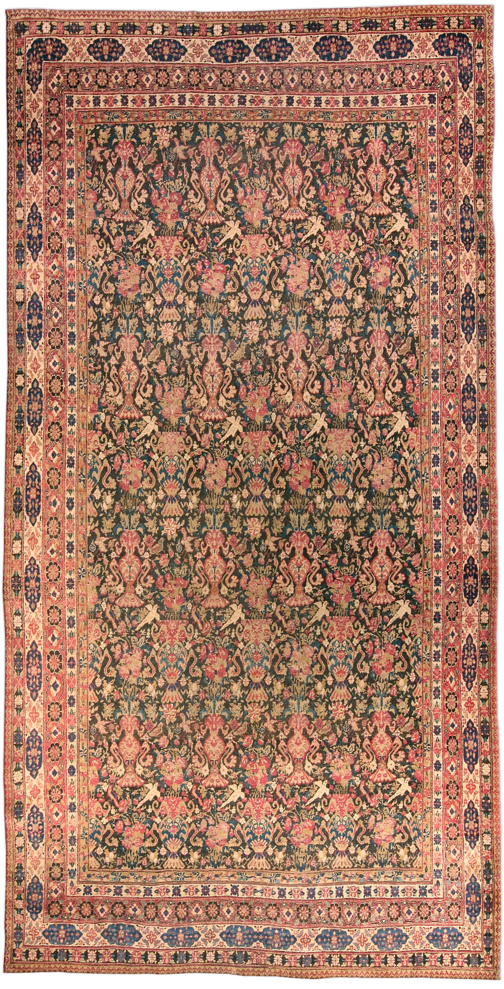 Antique Persian Kirman Carpet BB4584