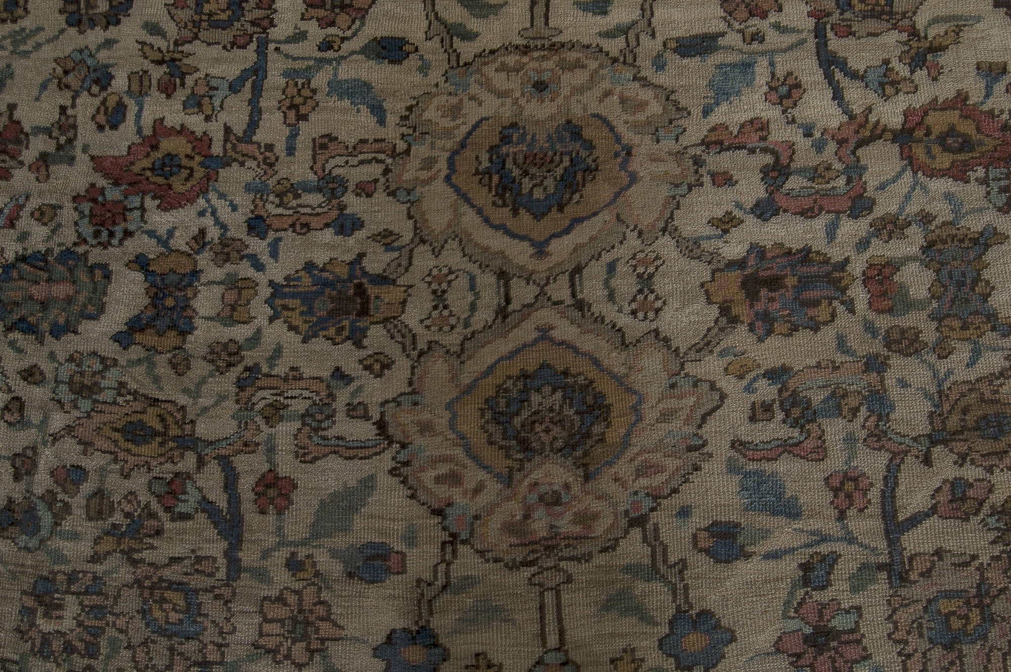Antique Persian Sultanabad Botanic Colorful Handwoven Wool Rug BB4605