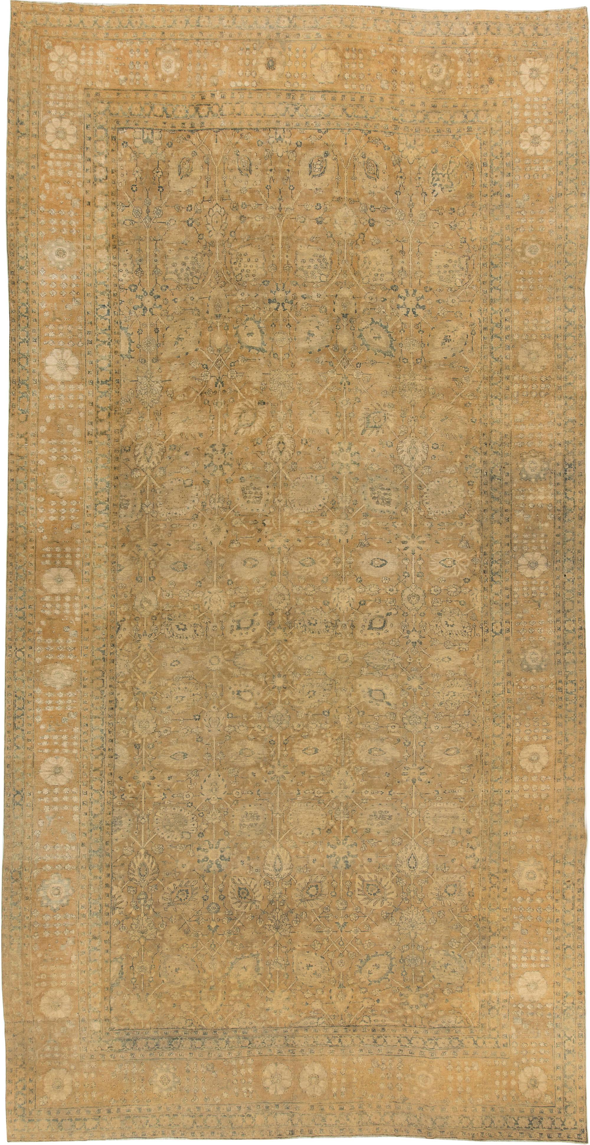 Antique Persian Tabriz Rug (size adjusted) BB2896