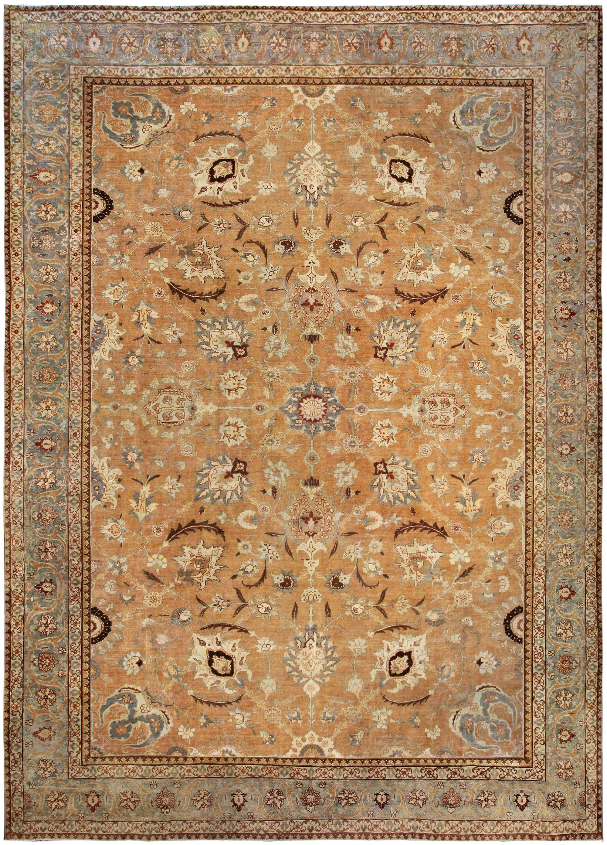 Antique Persian Tabriz Rug Bb4081 By Dlb