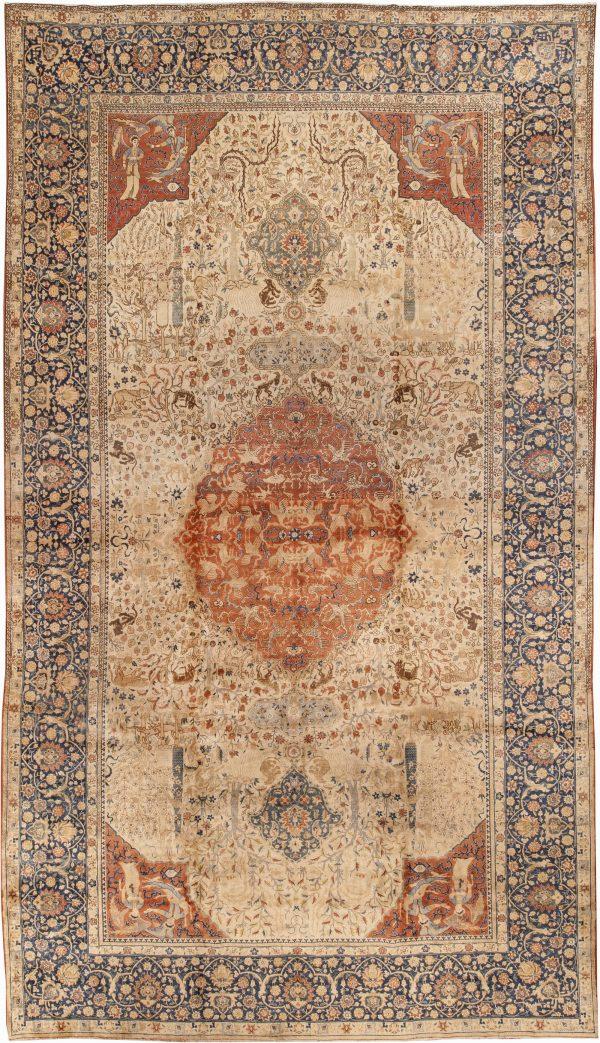 Antique Persian Tabriz Carpet BB0642