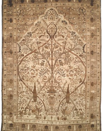 Antique persa Tabriz Tapete BB1666