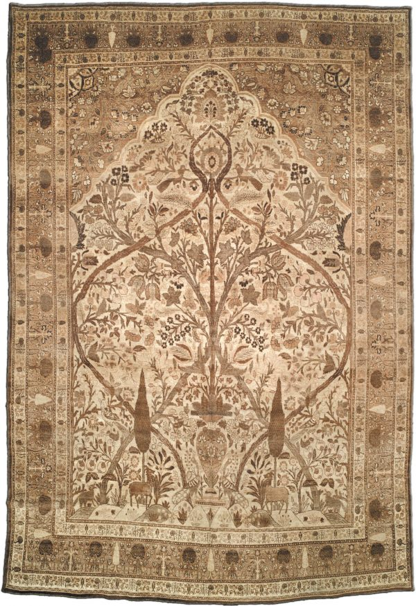 Antike persische Tabriz Teppich BB1666