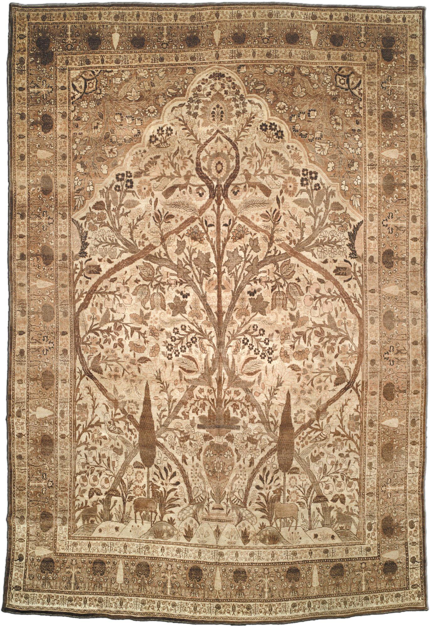 Antique Persian Tabriz Rug BB1666