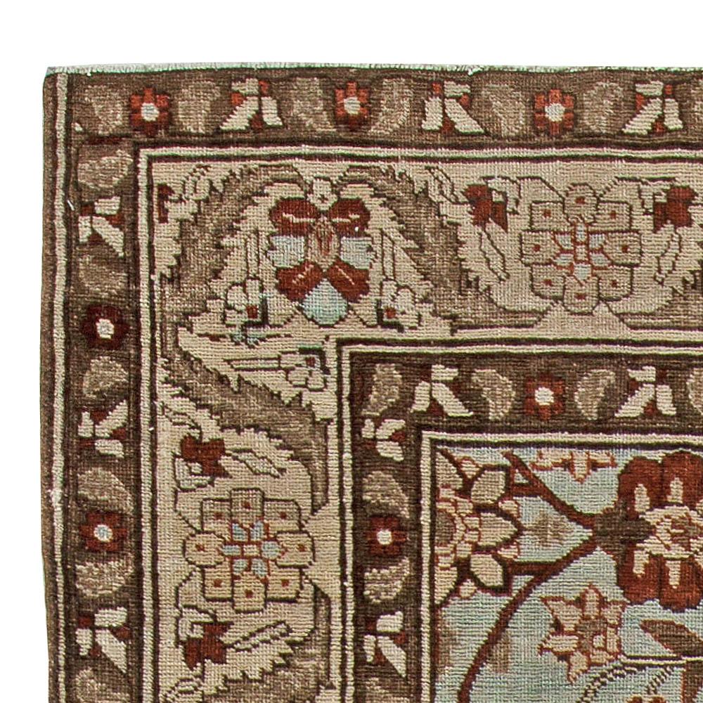 Persian Tabriz in Shades of Deep Terracotta, Blue, Gray & Beige Carpet BB5739
