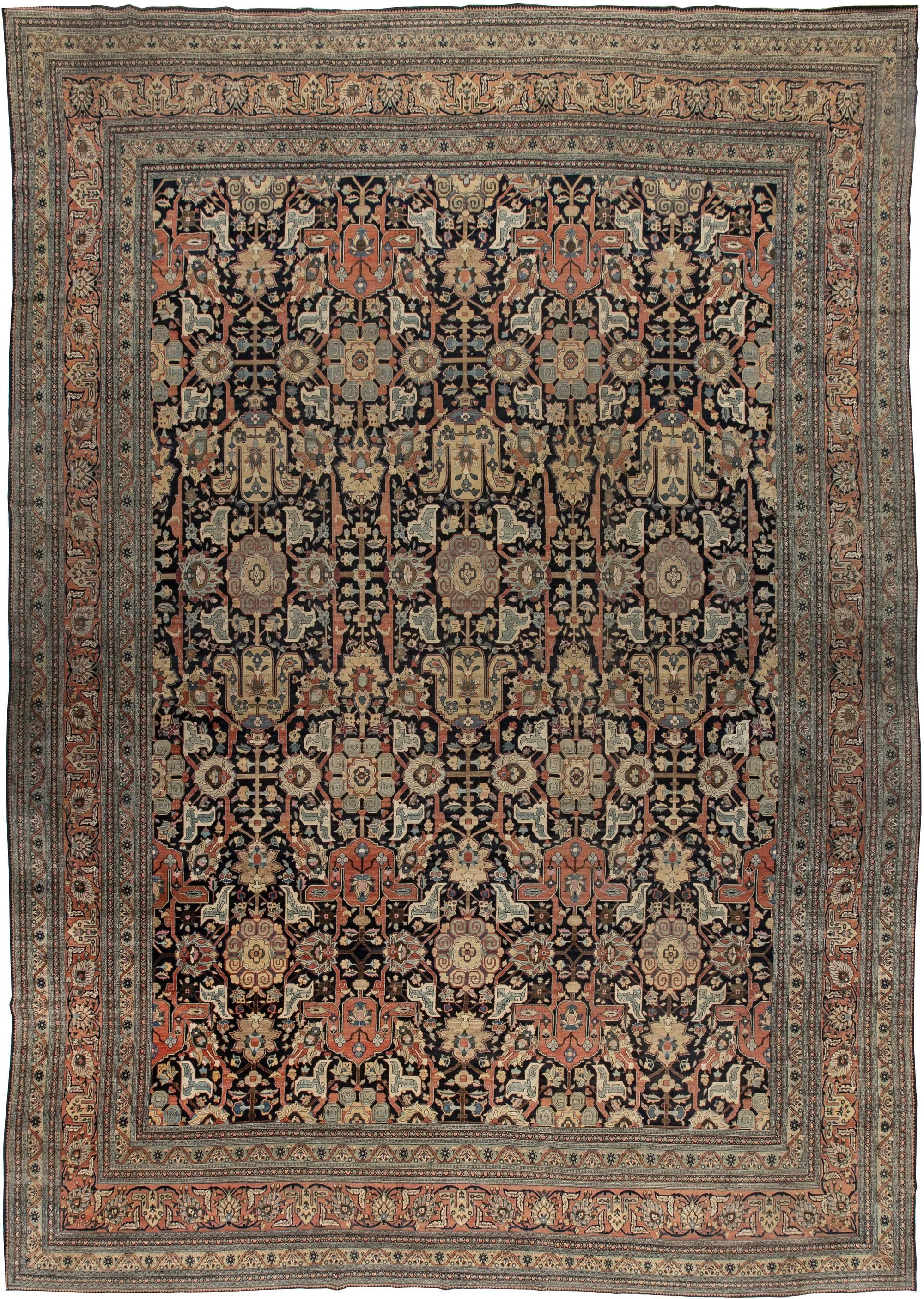 Large Antique Persian Tabriz Rug BB4493
