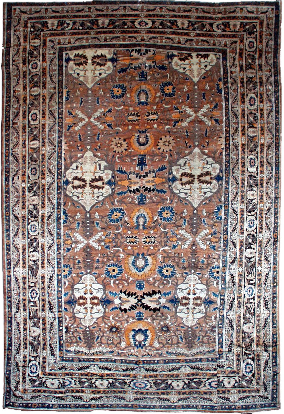Vintage Persian Tabriz Carpet BB1011