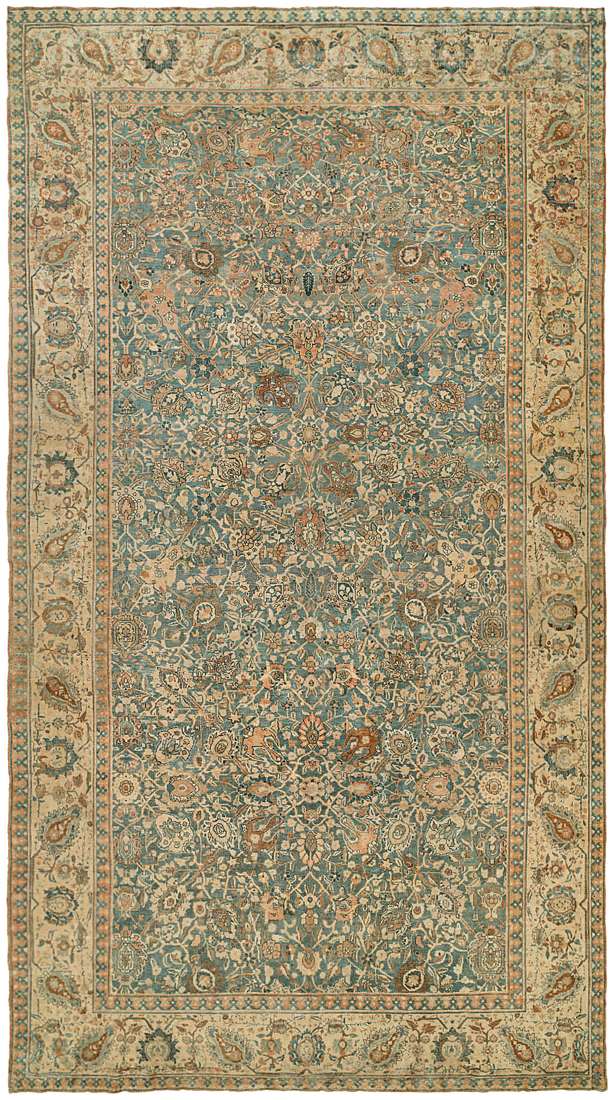 Antique Persian Tabriz Rug Bb2187 By Dlb