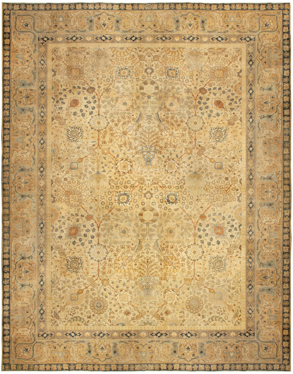 Antique Persian Tabriz Rug BB4938