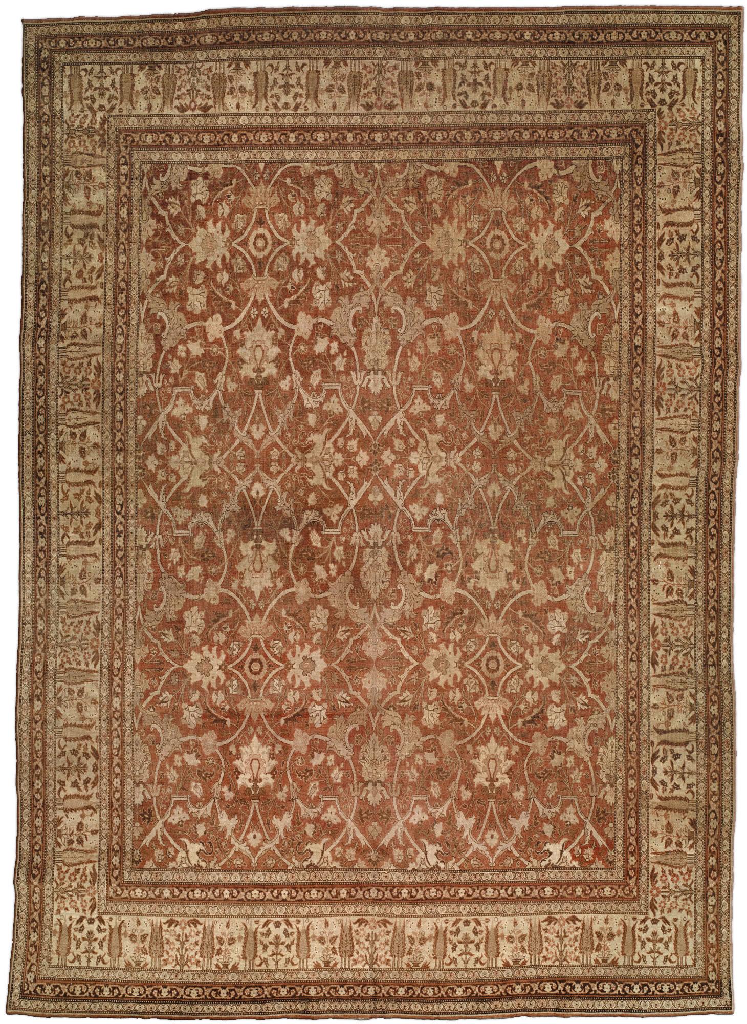 Persian Tabriz Carpet BB0834