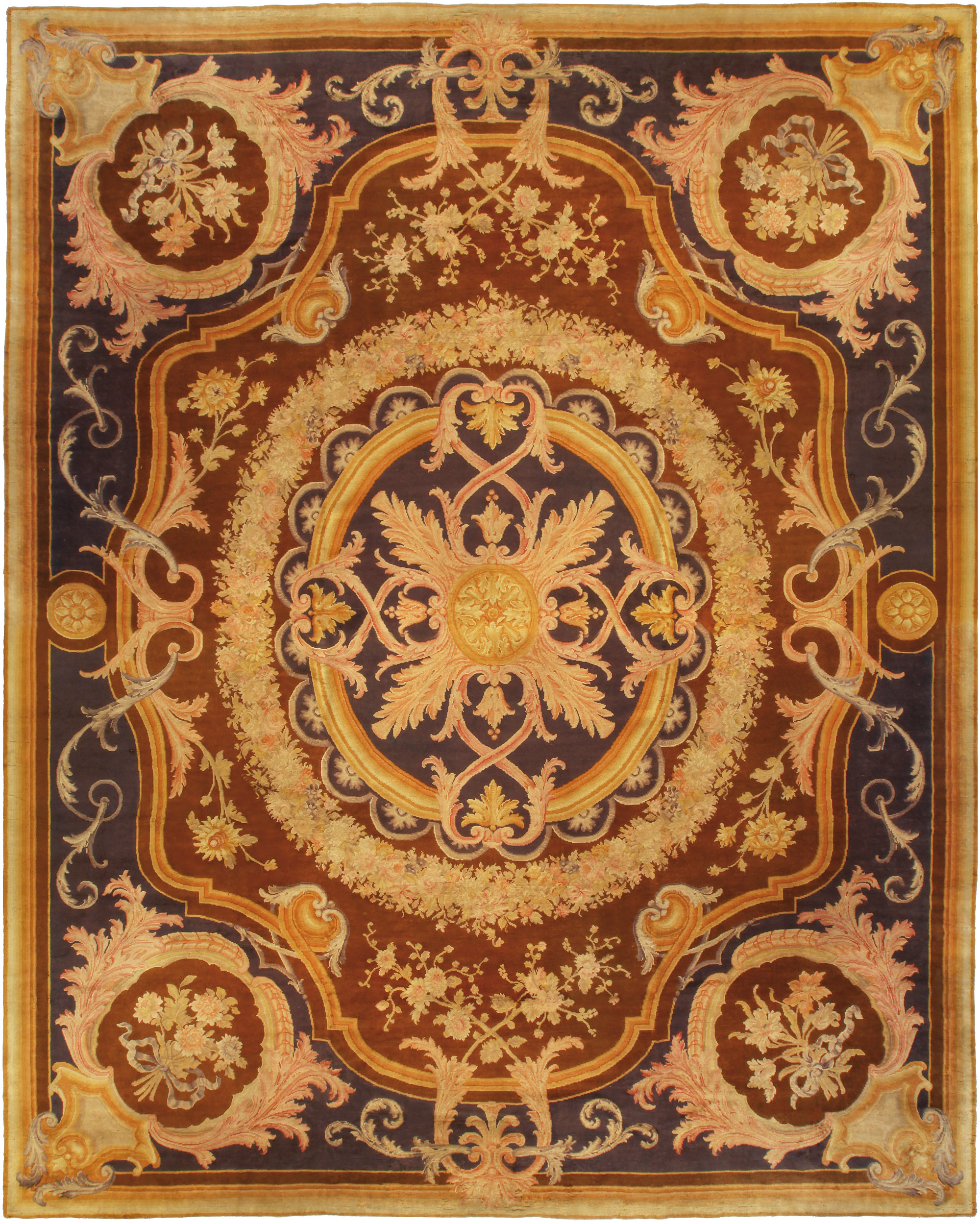 Extra Large Vintage Savonnerie Rug Bb5125 By Dlb