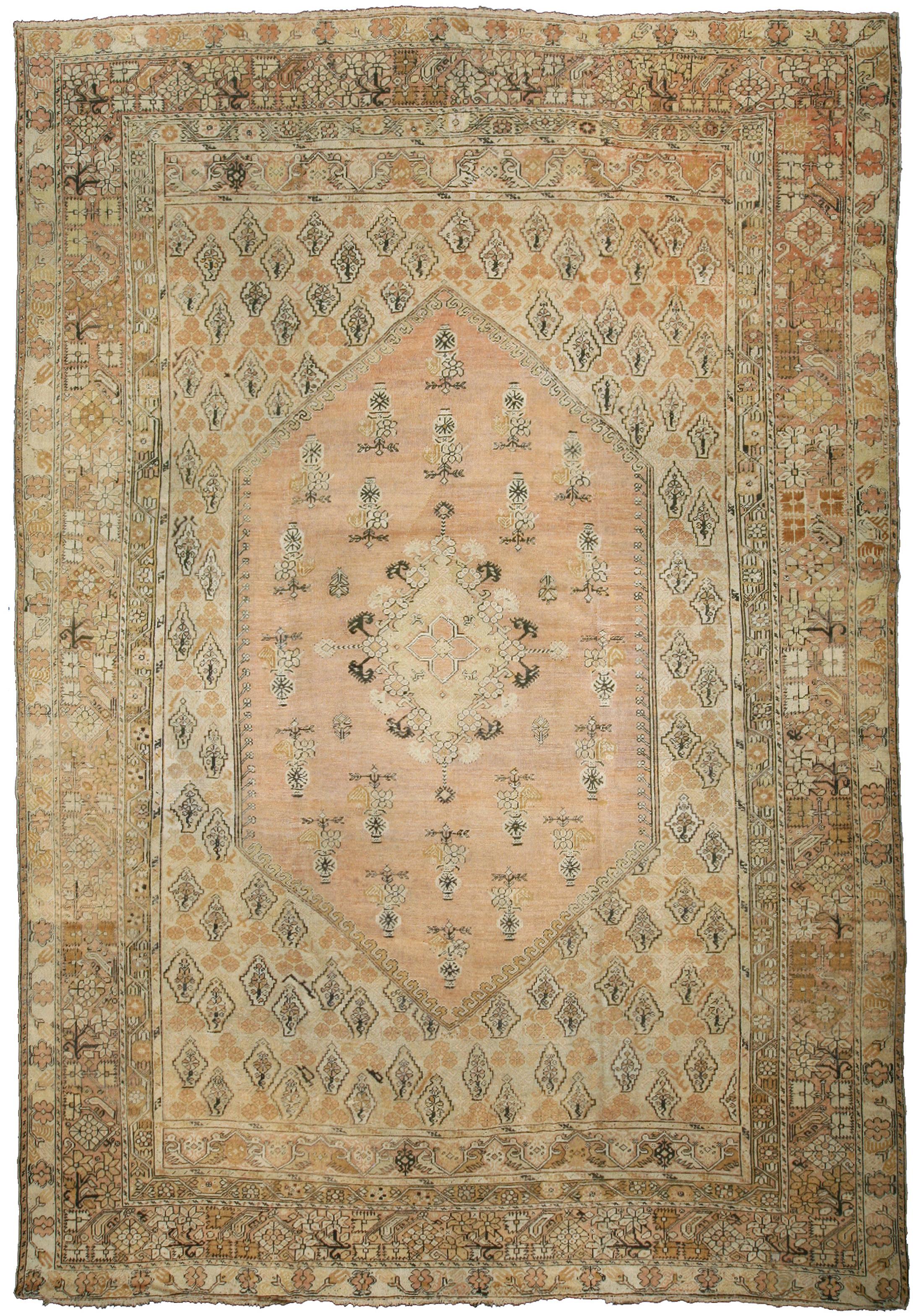 Antique Turkish Ghiordes Rug BB0921