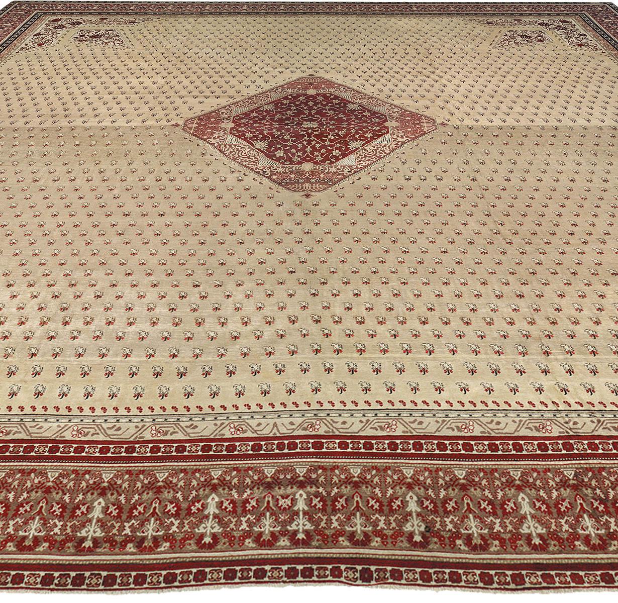 Oversized Antique Turkish Hereke Carpet BB1632