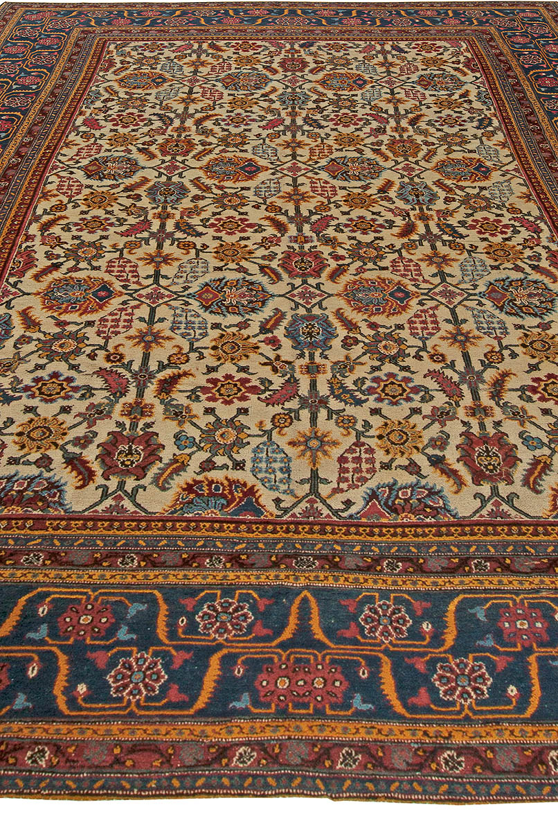 Antique Indian Rug Bb5669 By Dlb