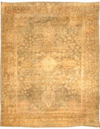 Antique Turkish Oushak Rug BB4641