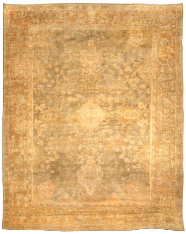 Antique Turkish Oushak Rug BB4641