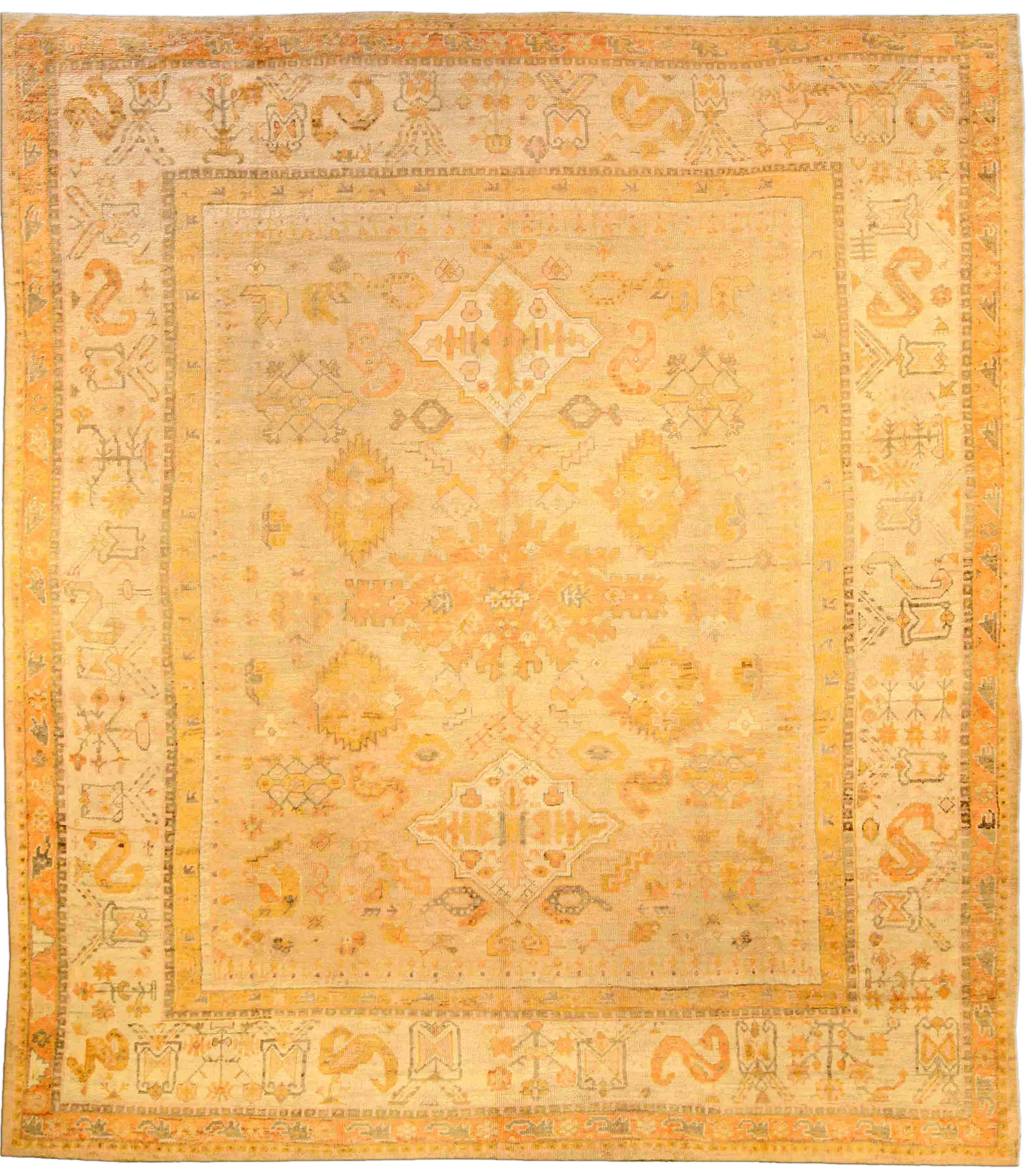 Antique Turkish Oushak Rug BB3872
