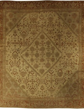 Antique Turkish Oushak Rug BB5346