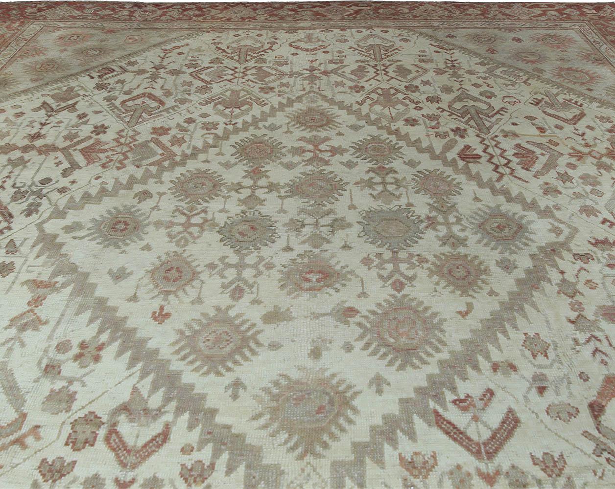 Antique Turkish Oushak Rug BB5346