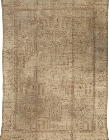 Oushak Pink, Red, Beige and Gray Handwoven Wool Rug BB7013