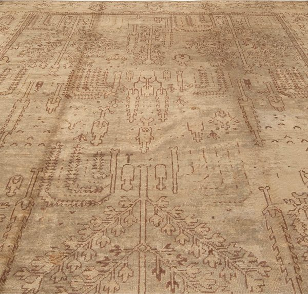 Antique Turkish Oushak Rug BB1386
